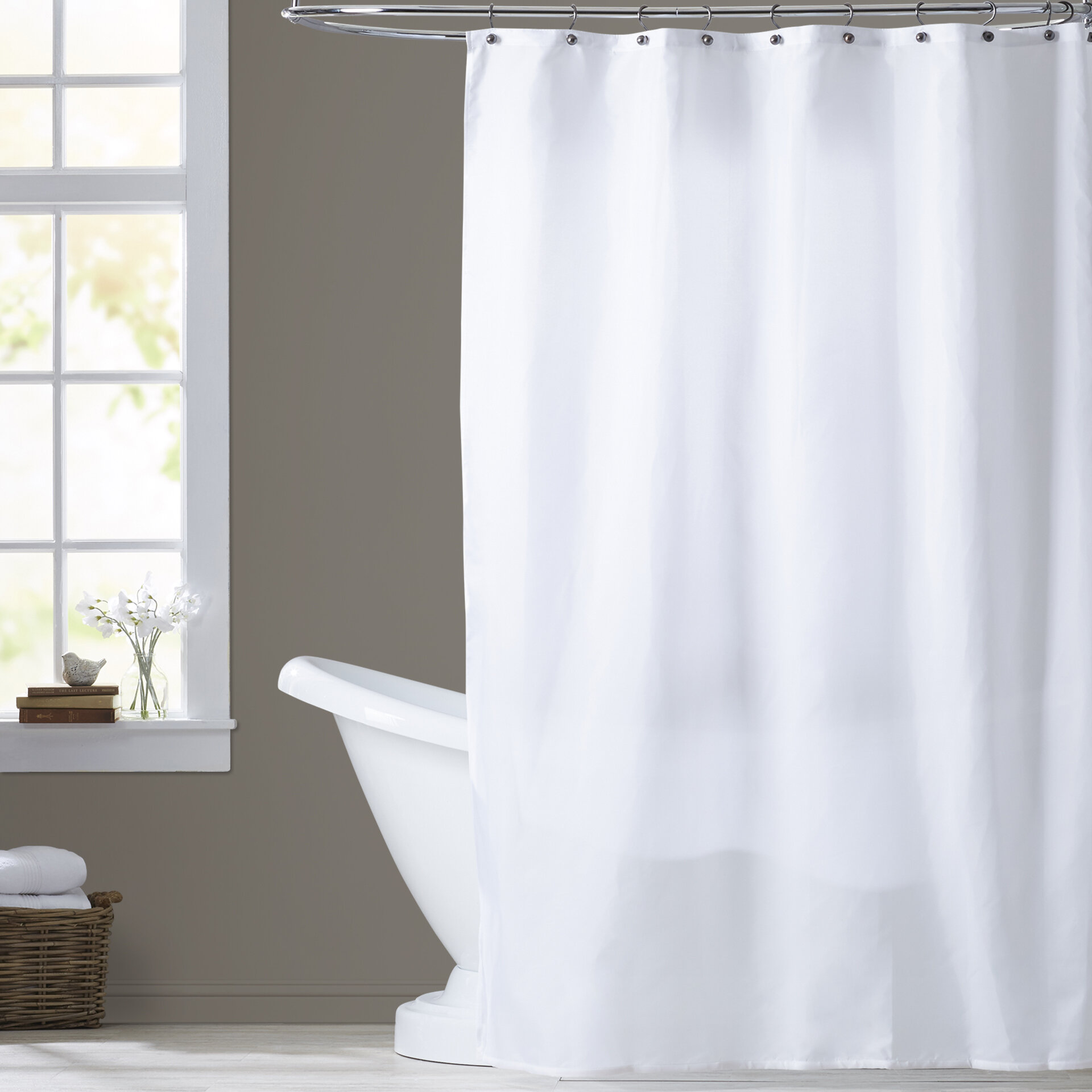 Three Posts Berning Nylon Shower Curtain Liner & Reviews   Wayfair