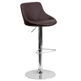 Kandice Swivel Adjustable Height Bar Stool by Orren Ellis