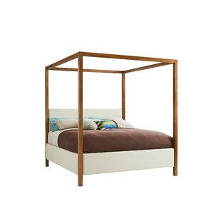 Panavista Upholstered Canopy Bed