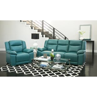 Evansburg Reclining 2 Piece Leather Living Room Set by Red Barrel Studio