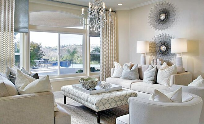 Glam Living Room Decor Wayfair