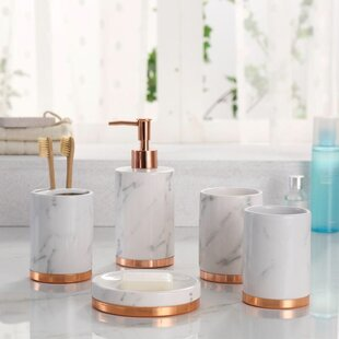 Beautiful Erita Bathroom Accessory Set (Set Of 5)