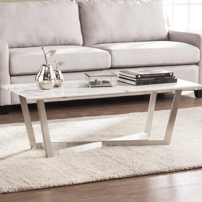 faux marble coffee table. Rosenbalm Faux Marble Coffee Table Wayfair