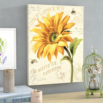 """Under The Sun II Painting Print on Wrapped Canvas Lark Manor Size: 32"""" H x 24"""" W x 2"""" D"""