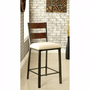 Carolos Industrial Solid Wood Dining Chair (Set of 2) 17 Stories
