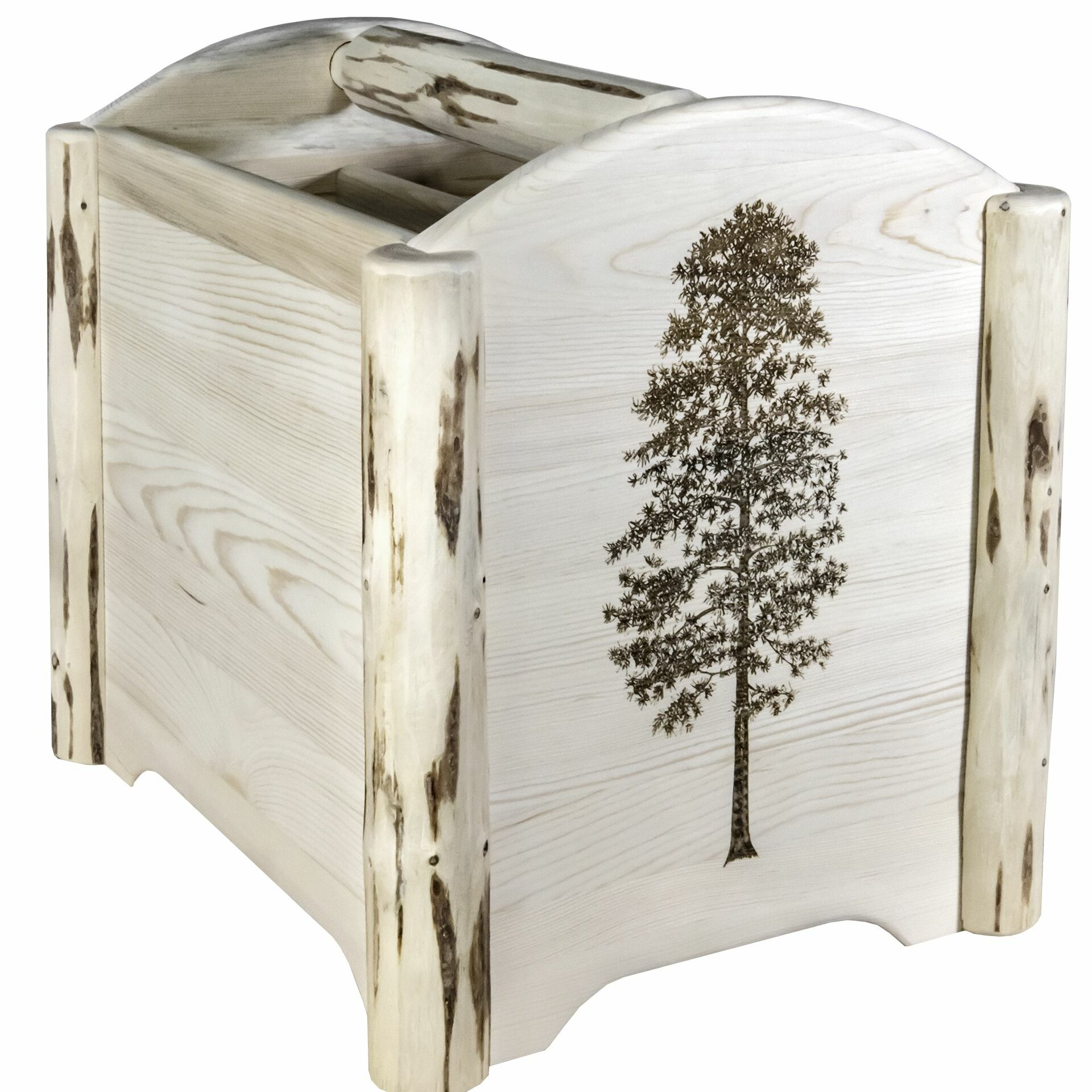 Millwood Pines Silber Laser Engraved Magazine Rack Wayfair Ca