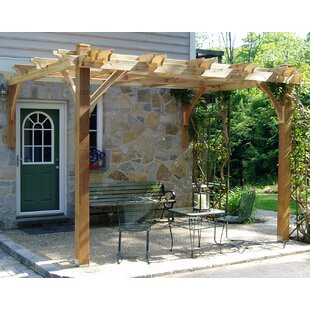 Breeze 10 Ft. W x 8 Ft. D Solid Wood Pergola by Outdoor Living Today