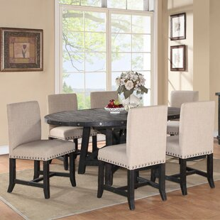 Gaudette 7 Piece Solid Wood Dining Set by Gracie Oaks