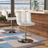 Alandra Swivel Adjustable Height Bar Stool by Wade Logan®