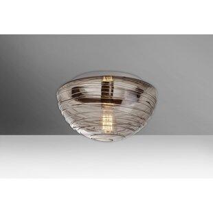 Online Reviews Wave 1-Light Outdoor Flush Mount By Besa Lighting