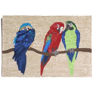 Glenshane Parrots Neutral Indoor/Outdoor Area Rug