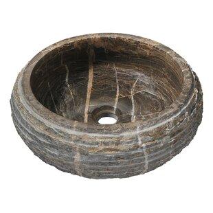 Stone Circular Vessel Bathroom Sink ANZZI
