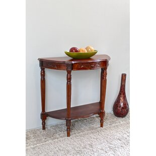 Katsikis Hand Carved Half Moon Console Table by Astoria Grand #1