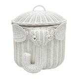 Elephant Wicker Storage Basket by Three Posts Teen