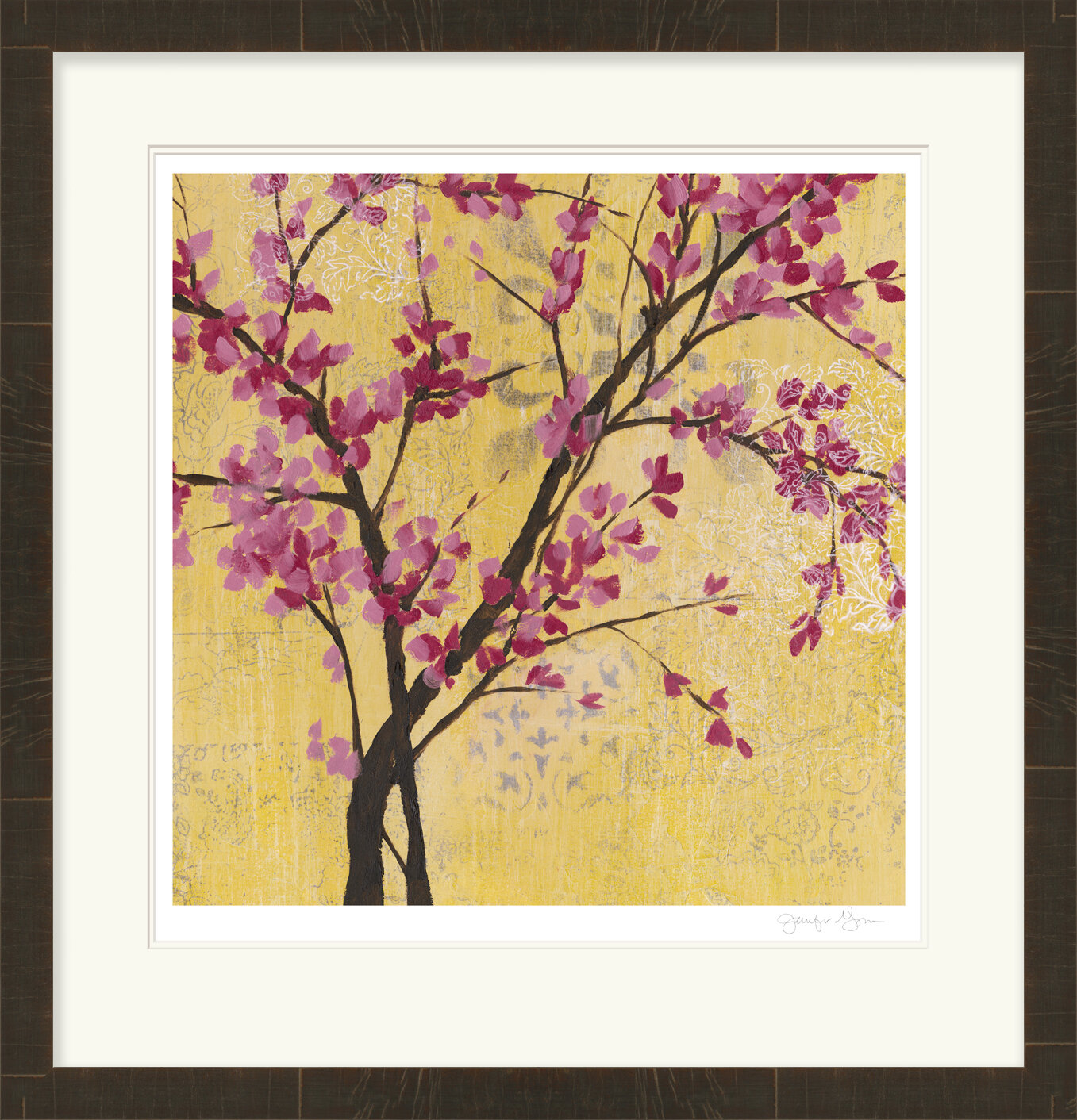 Bloomsbury Market \'Fuchsia Blossoms II\' Rectangle Framed Painting ...