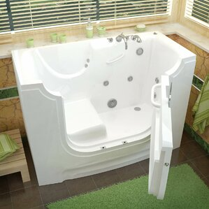 whirlpool bathtub. HandiTub 60  x 30 Walk In Whirlpool Bathtub Tubs You ll Love Wayfair
