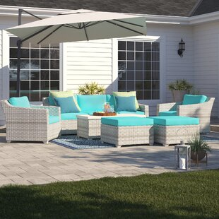 Falmouth 8 Piece Sofa Seating Group with Cushions by Sol 72 Outdoor