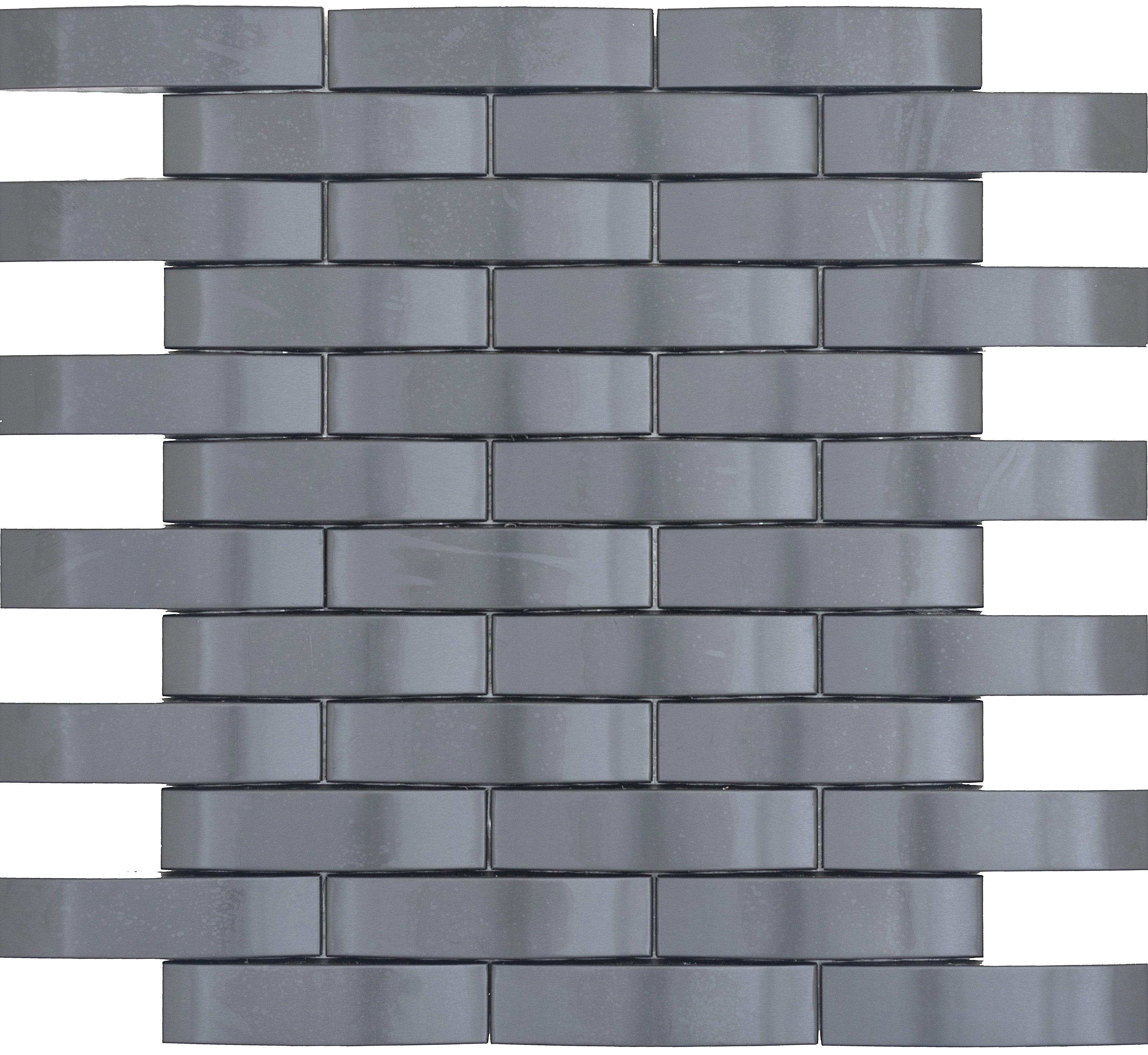 Emser Tile Gleam 11 X 12 Metal Over Ceramic Wave Mosaic Tile In