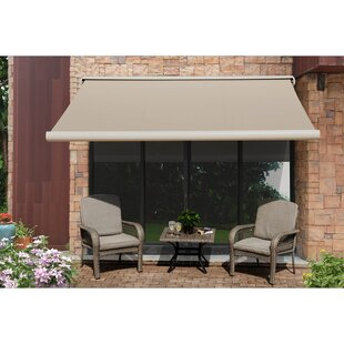 Sunjoy 10 ft. W x 9 ft. D Retractable Patio Awning