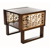 Wilton Manor Grille End Table by Bloomsbury Market