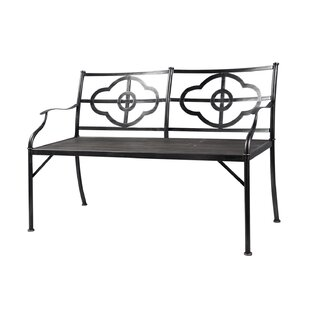 Phaedra Clover Wood/Metal Garden Bench