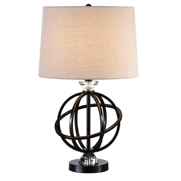 Wrought Studio Augie Metal Orb 25 Table Lamp Wayfair