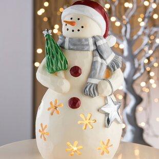 Beige Mrs Snow Woman LED Luminary Light Image