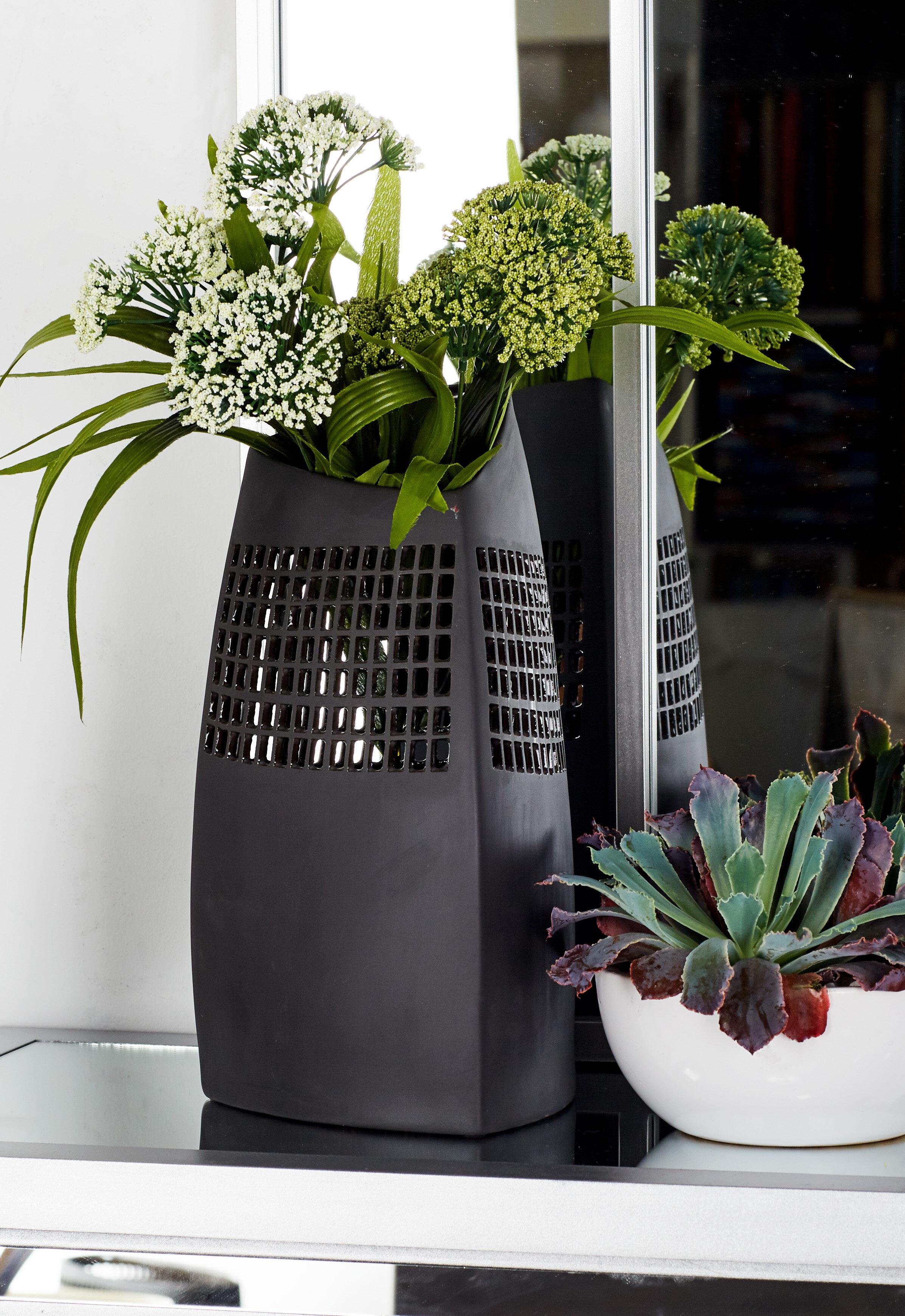 August Grove Cyrill Modern Triangular Table Vase Reviews Wayfair