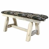 Citronelle Faux Leather Wood Bench by Loon Peak®
