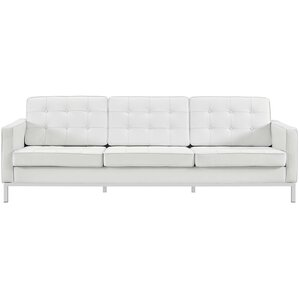 Gayatri Leather Sofa by Orren Ellis