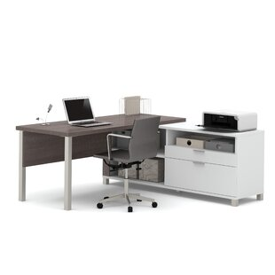 Wrought Studio Pham L-Shape Desk Office Suite