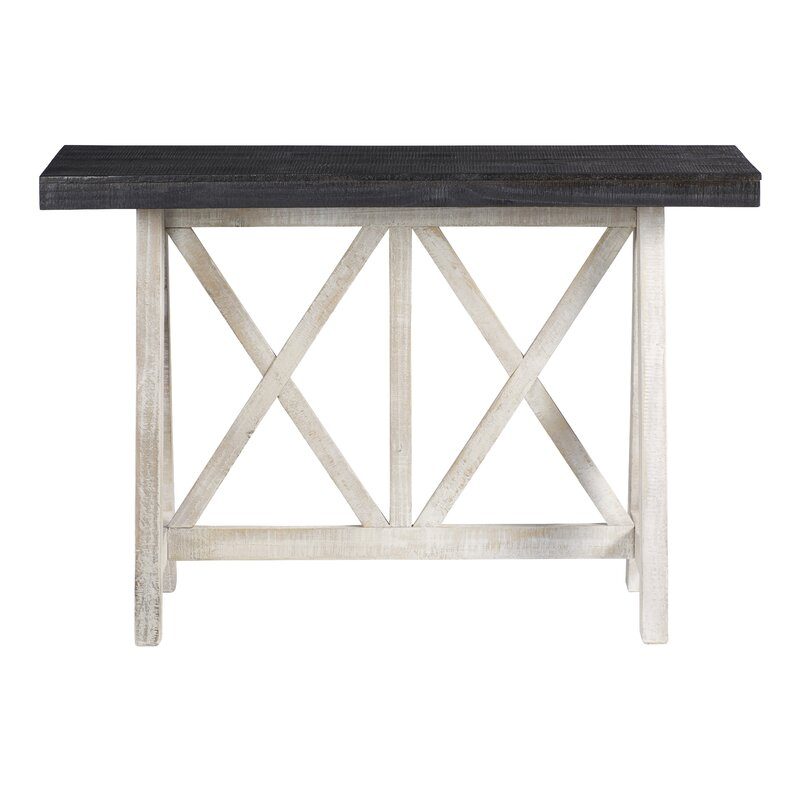 Highland Dunes Cortinas 48 Solid Wood Console Table Wayfair