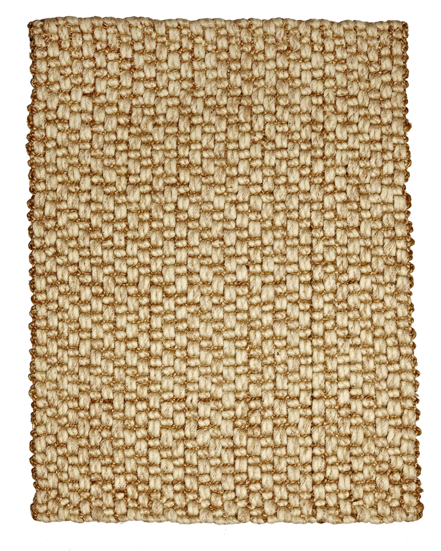Beachcrest Home Jeneva Hand Woven Jute And Wool Beige Area Rug