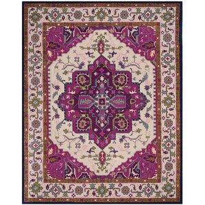 blokzijl handtufted wool purple area rug