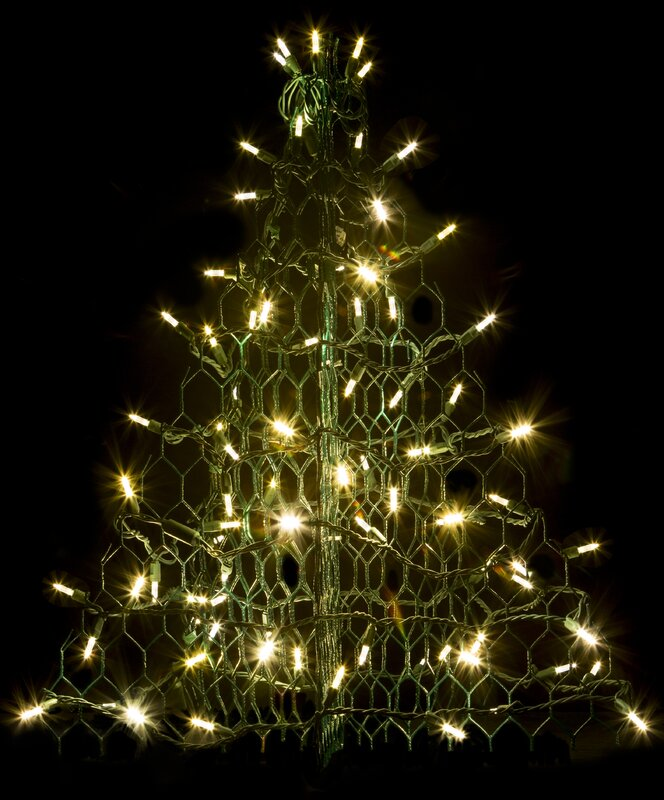 Mini Tree With Lights Part - 38: Crab Pot Christmas Tree® With 80 LED Mini Lights