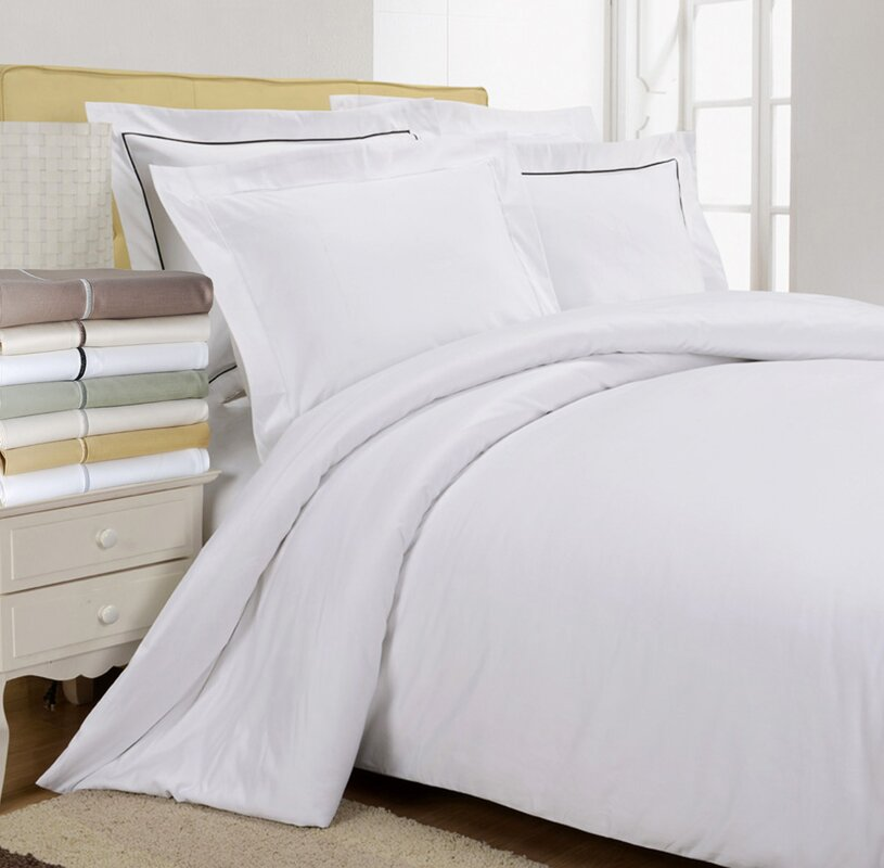 Patric 800 Thread Count Egyptian Quality Cotton Solid Duvet Cover Set