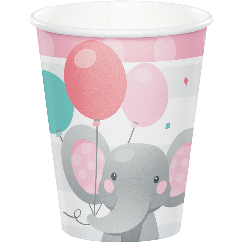 Enchanting Elephants Girl Napkins 48 ct