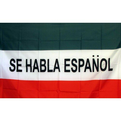 Business Signs Se Habla Espanol Flag 3x5 Polyester Business Industrial Oqtave Consulting Com