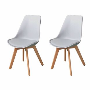 Deux Mid Century Upholstered Dining Chair (Set of 2)