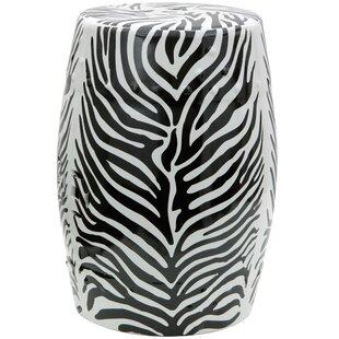 Oriental Furniture Zebra Leaf Porcelain G..