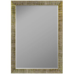 Manns Textured Silver Ribbed Wall Mirror