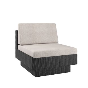 Chretien Armless Chair with Cushions by Brayden Studio