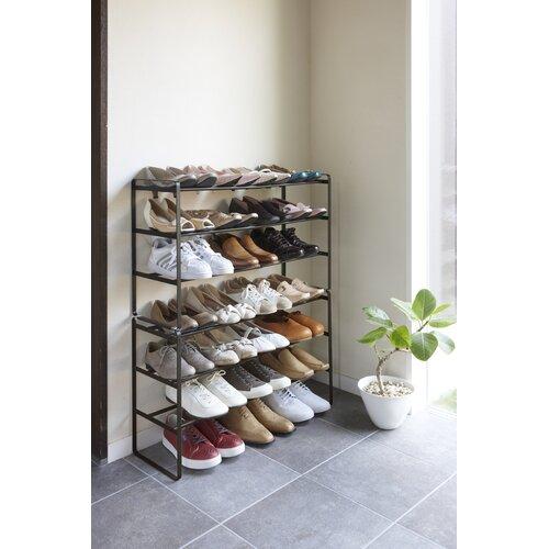 Schuhregal für 12 Paar Schuhe   Flur & Diele > Schuhschränke und Kommoden > Schuhregal   Schwarz/weiß   Yamazaki