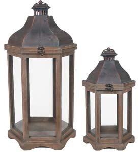 Metal/Wood Lantern