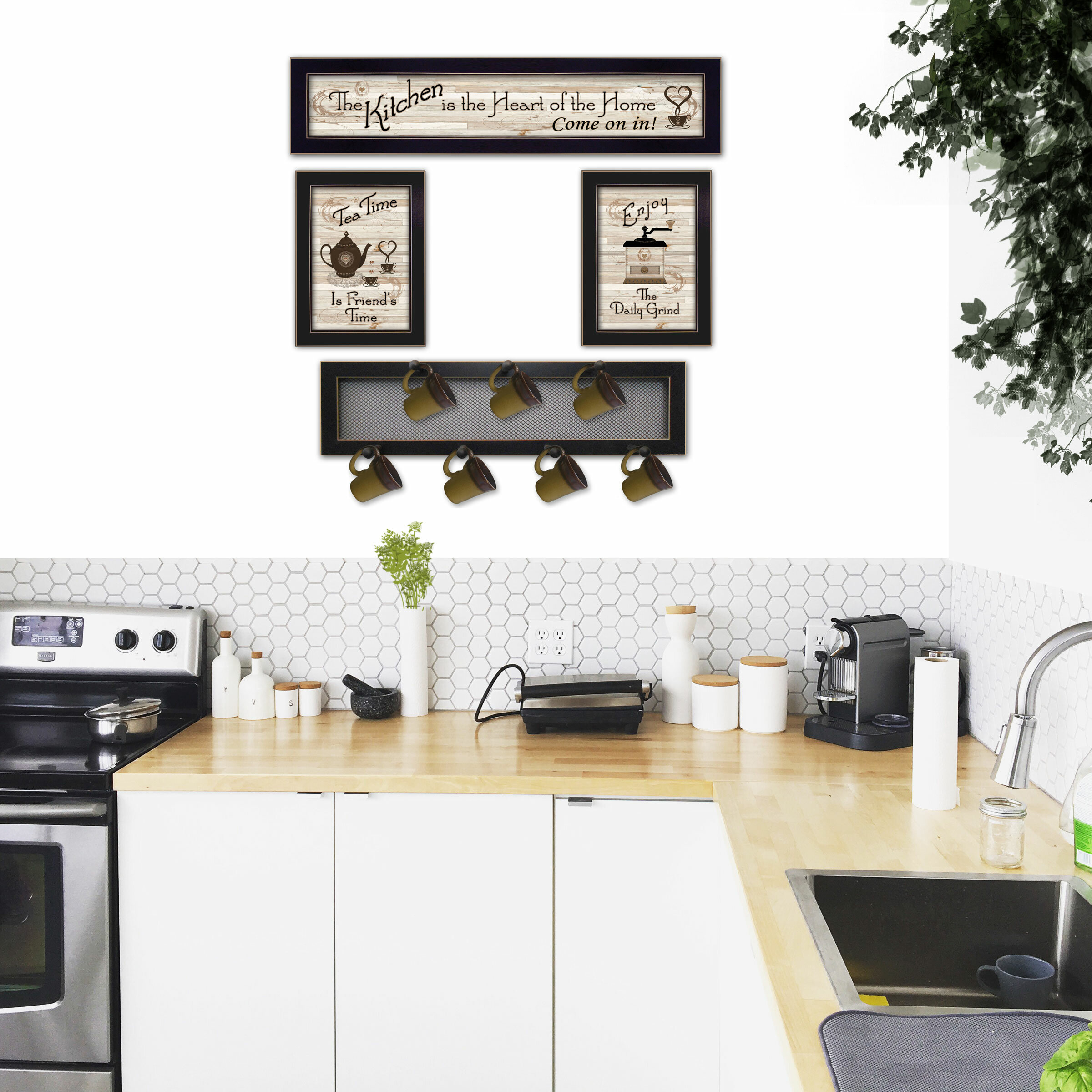 4 Piece Kitchen Wall Décor Set