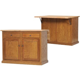 Mairead Kitchen Island with Flip-Up Top Longshore Tides