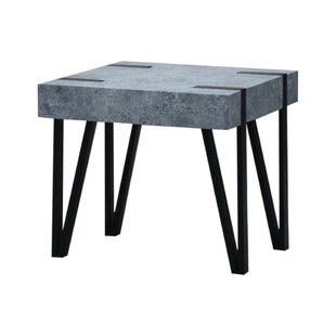 Burdine Concrete End Table by Williston Forge