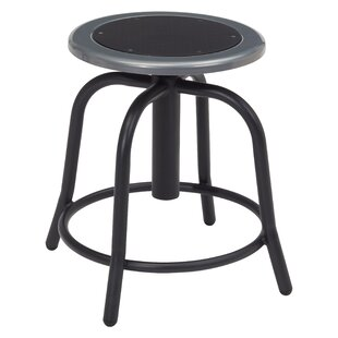 Adjustable Height Industrial Stool with Footring