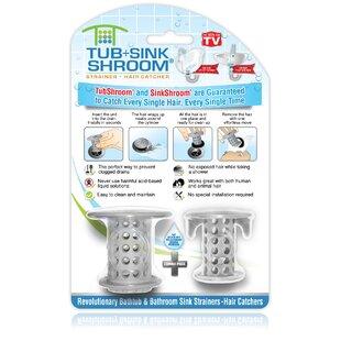TubShroom 2 Piece Protector Hair Catcher Tub Drain Set