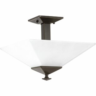 Jadyn 2-Light Semi Flush Mount by Ebern Designs
